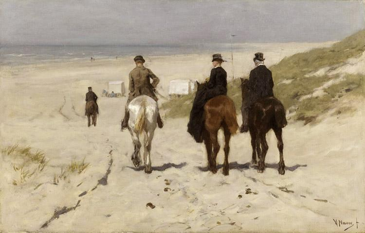 Anton mauve Riders on the Beach at Scheveningen (nn02) oil painting image