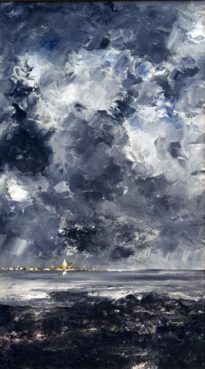 August Strindberg The City (nn02 oil painting image