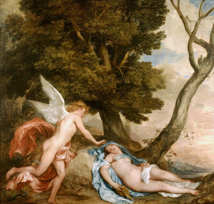 Dyck, Anthony van Cupid and Psyche (mk25) oil painting image