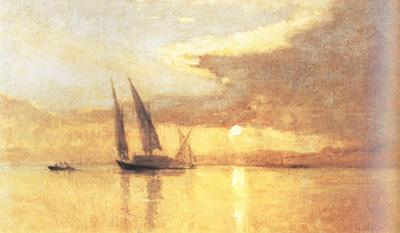 Francois Bocion Sunset at the Lake of Geneva (nn02 oil painting image