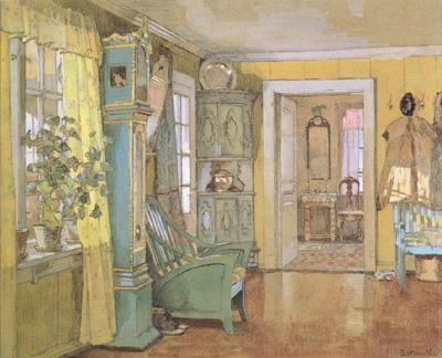 Gerhard Munthe Antechamber in the Artist's Home (nn02) oil painting image