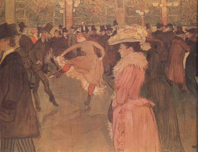 Henri  Toulouse-Lautrec Dance at the Moulin Rouge (nn03) oil painting image