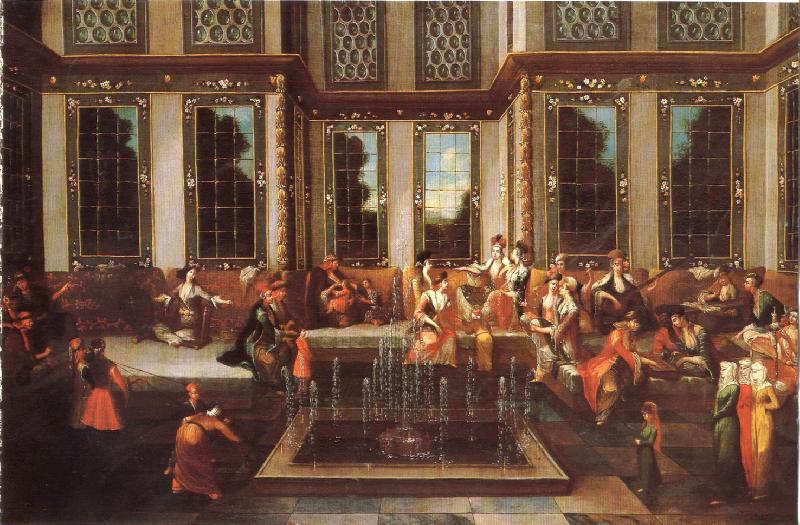 Jan Baptiste Vanmour Reception dans un harem turc (mk32) oil painting image