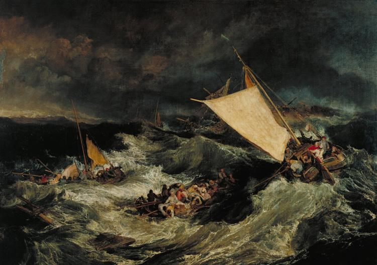 Joseph Mallord William Turner The Shipwreck (mk31) oil painting picture
