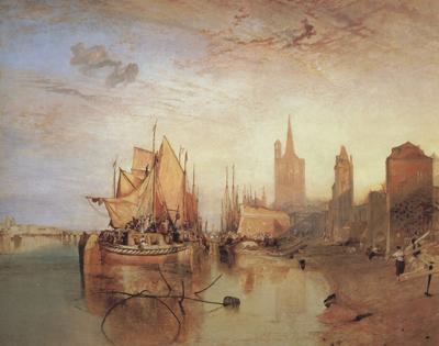 Joseph Mallord William Turner Cologne,the arrival lf a pachet boat;evening (mk31) oil painting image