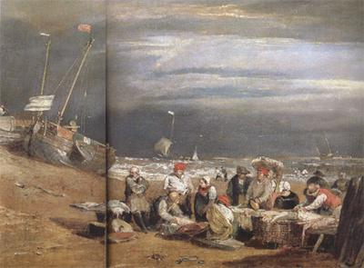 Joseph Mallord William Turner Fishmarket on thte beach (mk31) oil painting picture