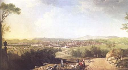 Thomas Patch A distant View of Florence (mk25) oil painting image