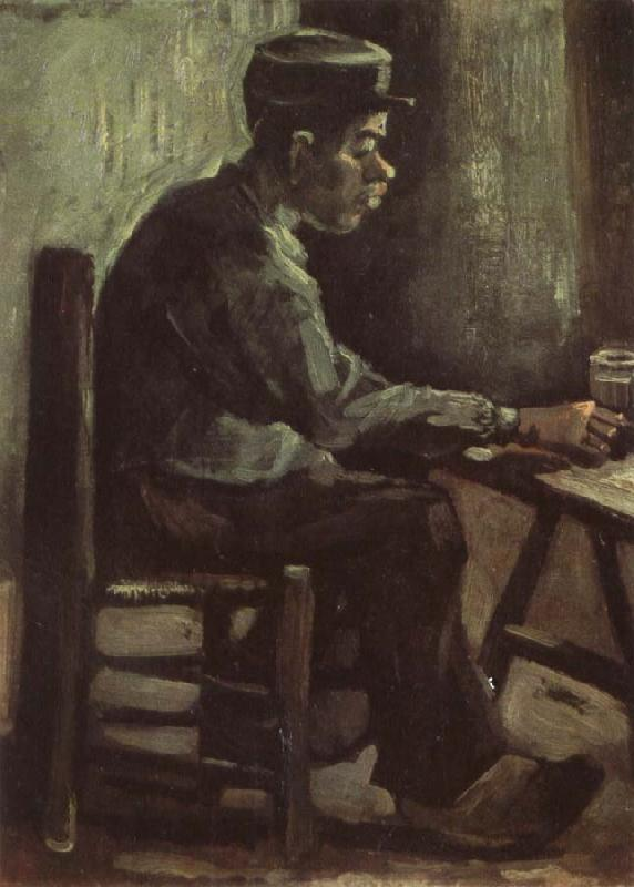Vincent Van Gogh Peasant Sitting at a Table (nn04) oil painting image