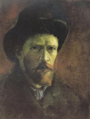 Vincent Van Gogh Self-portrait with Dark Felt Hat (nn04) oil painting image