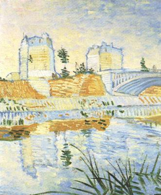Vincent Van Gogh The Seine with the Pont de Clichy (nn04) oil painting image