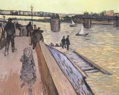 Vincent Van Gogh The Bridge at Trinquetaille (nn040 oil painting image