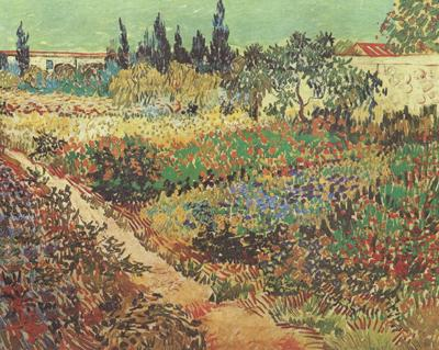 Vincent Van Gogh Flowering Garden with Path (nn04) oil painting image