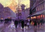 unknow artist Paris Street oil painting image