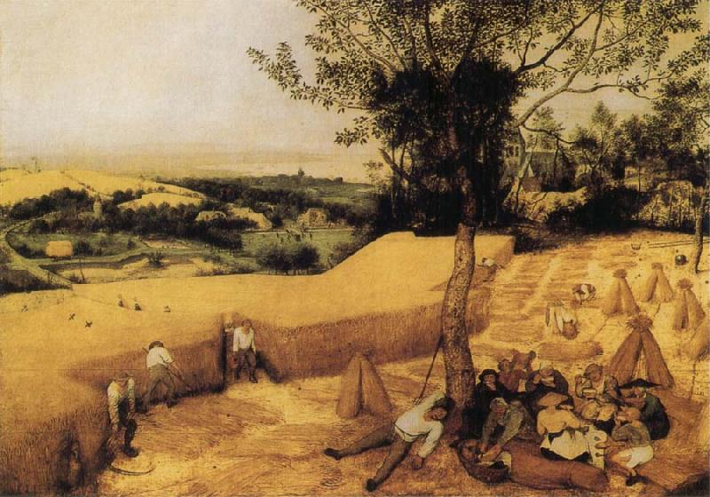 BRUEGHEL, Pieter the Younger The Corn Harvest oil painting image