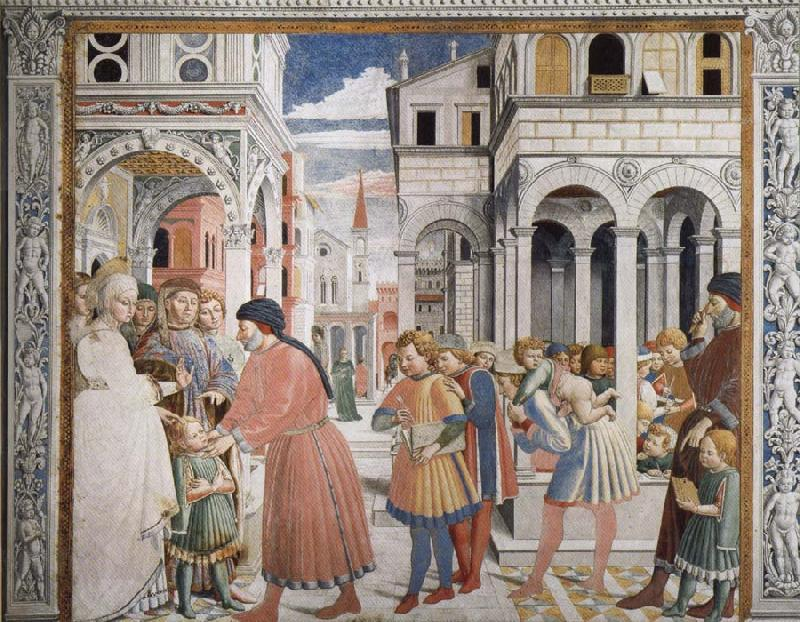 Benozzo Gozzoli The School in Tagaste oil painting image
