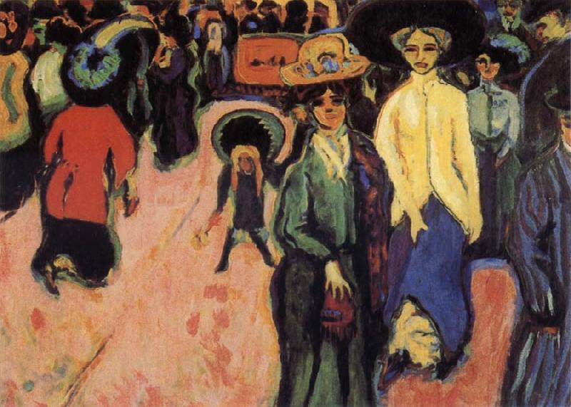 Ernst Ludwig Kirchner The Street oil painting image