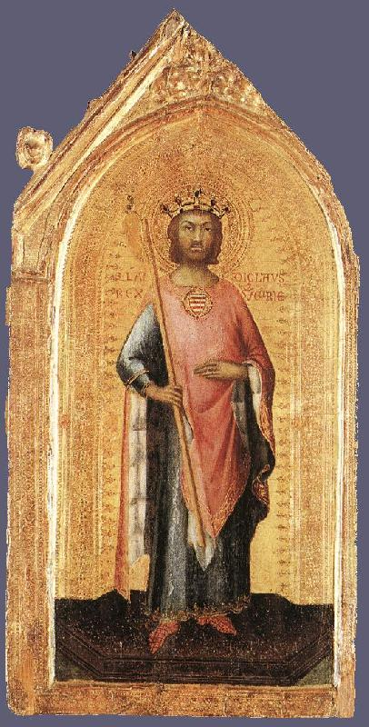 Simone Martini St Ladislaus, King of Hungary oil painting image