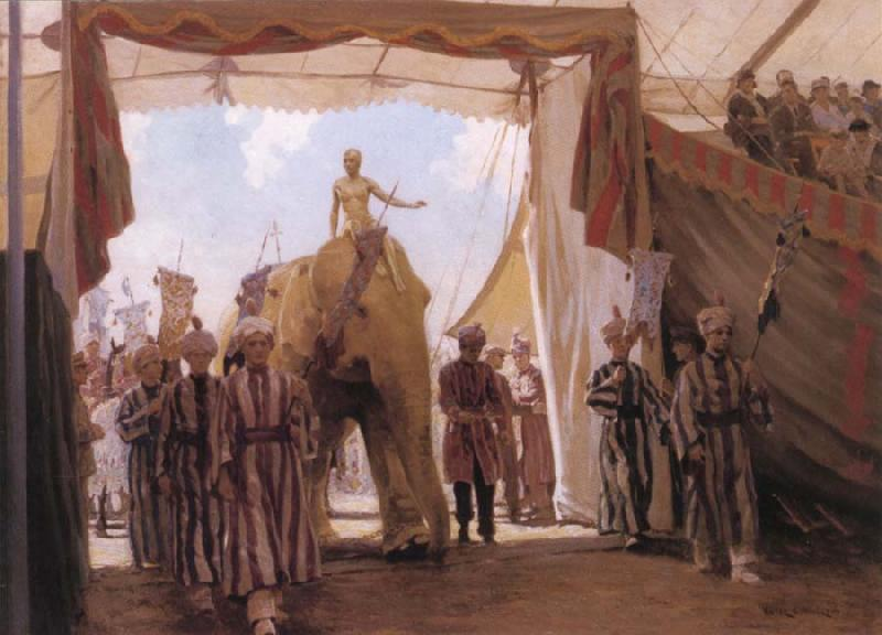 Victor C.Anderson Circus Pagant oil painting image